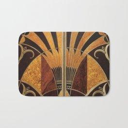 art deco wood Bath Mat