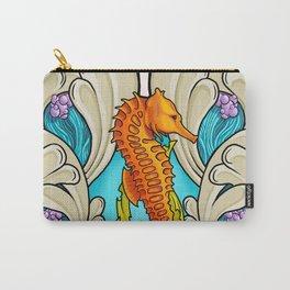 Art Nouveau Seahorse Carry-All Pouch