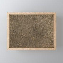 Rustic Tree Bark Pattern Framed Mini Art Print