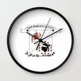 bandiera di San martinu di lota Wall Clock