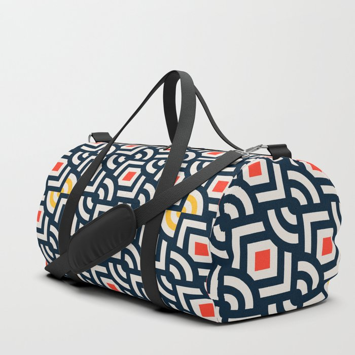 Round Pegs Square Pegs Navy Blue Duffle Bag