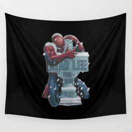 Lovely Spider-Man hug Stan Lee Wall Tapestry