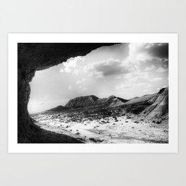 Bardenas Reales desert - the rock Art Print