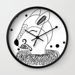 Miss Hata (monogram) Wall Clock