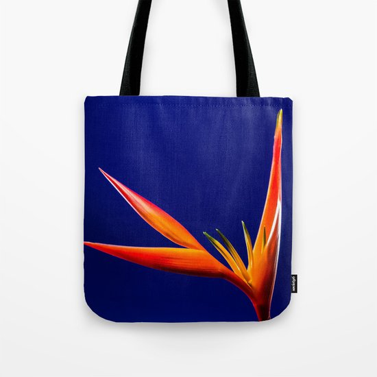 Flower orange blue 7 Tote Bag