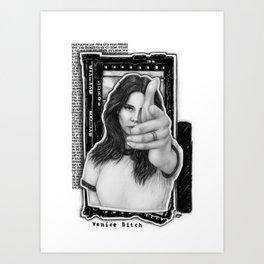 Venice B*tch Art Print