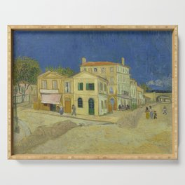 The Yellow House by Vincent van Gogh Serving Tray