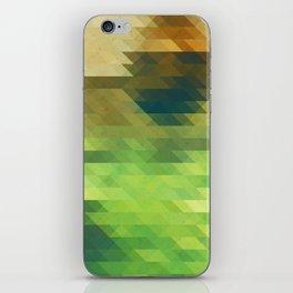 Green yellow triangle pattern, lake iPhone Skin