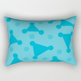 Abstract Dots Rectangular Pillow