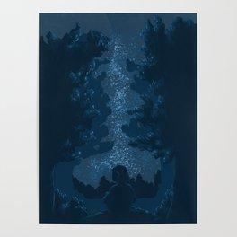 Stargazing | Digital illustration Poster