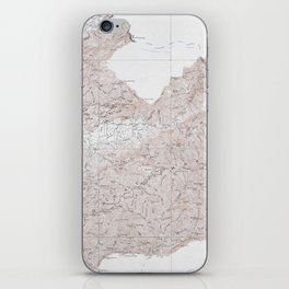 Vintage Smoky Mountains National Park Topography Map iPhone Skin