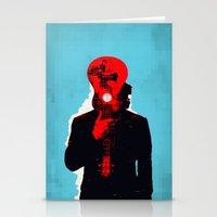 eddie vedder Stationery Cards featuring Eddie Vedder by Alec Goss