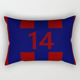 Legendary No. 14 in red and blue Rectangular Pillow