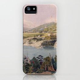 Panorama of West Point from Constitution Island by John Rubens Smith (c 1820) iPhone Case