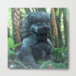 Lion Statue in the Tropics Photography Metal Print