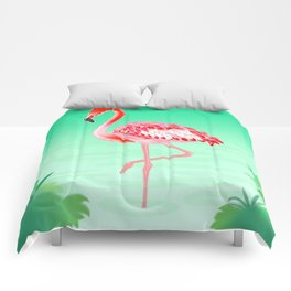 Tropical Flamingo Comforters