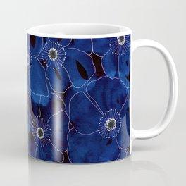 Dark Blue Anemones Coffee Mug