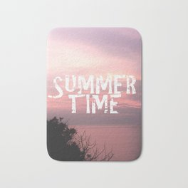 Summer Time - Sunset On The Sea Bath Mat