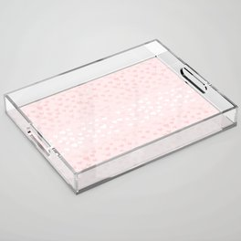 Hearts in light pink Acrylic Tray