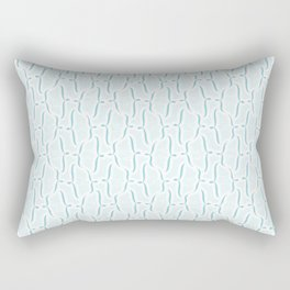 Bracket Blue Rectangular Pillow