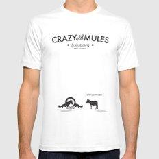 Crazy old Mule / Metro Goldwyn Mule White Mens Fitted Tee MEDIUM