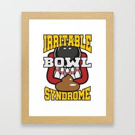 Irritable Bowl Syndrome T-Shirt Bowling Tee Framed Art Print