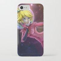 princess peach iPhone & iPod Cases featuring Princess Peach by Luiz Raffaello de Negreiros