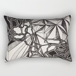 Neurogeometry Rectangular Pillow