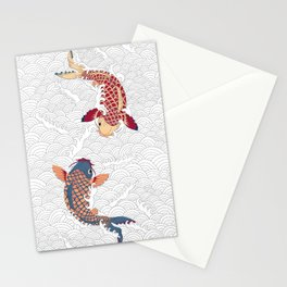 koi fish bold graphic Stationery Cards