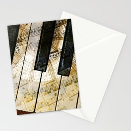 Piano Keys Music Collage abstract Stationery Cards