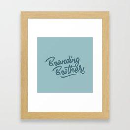Branding Brothers turquoise Framed Art Print