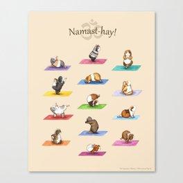 The Yoguineas - Yoga Guinea Pigs - Namast-hay! Canvas Print