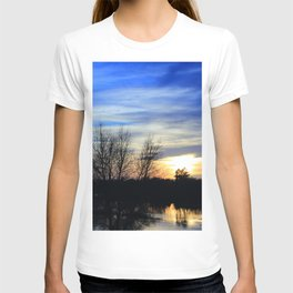 River in Flood at Sunset T-shirt