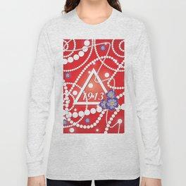 Crimson and Pearls Long Sleeve T-shirt