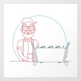Coffee (lineart) Art Print