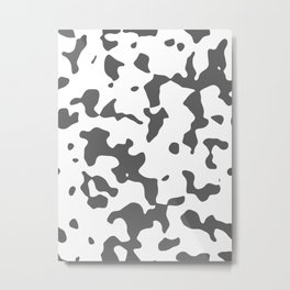 Large Spots - White and Dark Gray Metal Print