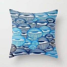 Eyes of the City Throw Pillow