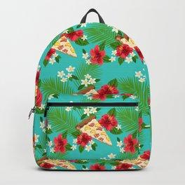 Hawaiian Pizza in a Hawaiian Print Backpack