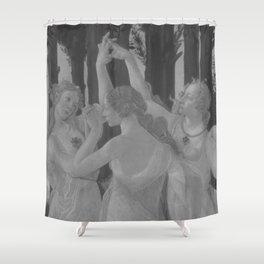 Black White Primavera Shower Curtain