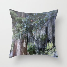 New Orleans Spanish Moss Throw Pillow