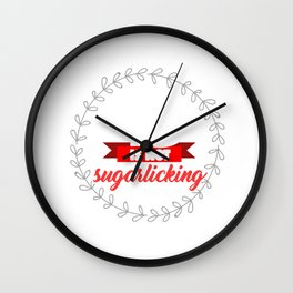 Sweets Bakery Candy Hilarious Quotes Sayings Life Is No Sugarlicking Funny Food Puns Gift Wall Clock