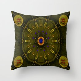 Metal and strawberrys Throw Pillow
