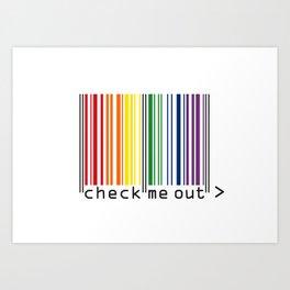 CHECK ME OUT (black text) Art Print