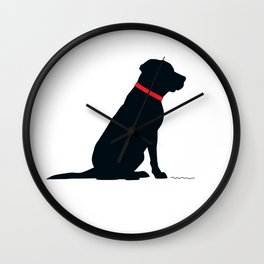 Modern Black Lab Silhouette Wall Clock