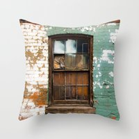 window Throw Pillows featuring window by Alfredo Rodriguez