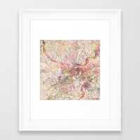 pittsburgh Framed Art Prints featuring Pittsburgh by MapMapMaps.Watercolors