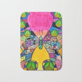 Rainbow Butterfly Intricate Bath Mat