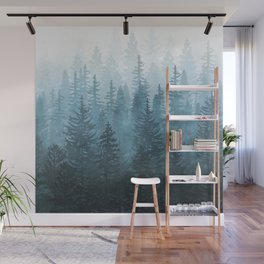 My Misty Secret Forest Wall Mural