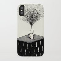 anxiety iPhone & iPod Cases featuring Anxiety by Felicia Chiao