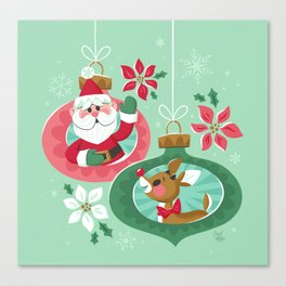 Merry Christmas from Santa & Rudolph Canvas Print